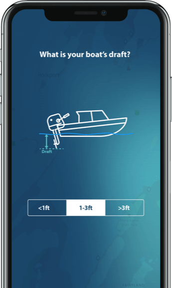Boating app with custom drafts
