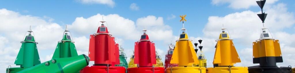 Marine navigation using buoys, beacons, and lights