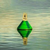 Green Port Hand buoy for navigation