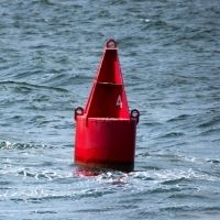 red starboard buoy for navigation